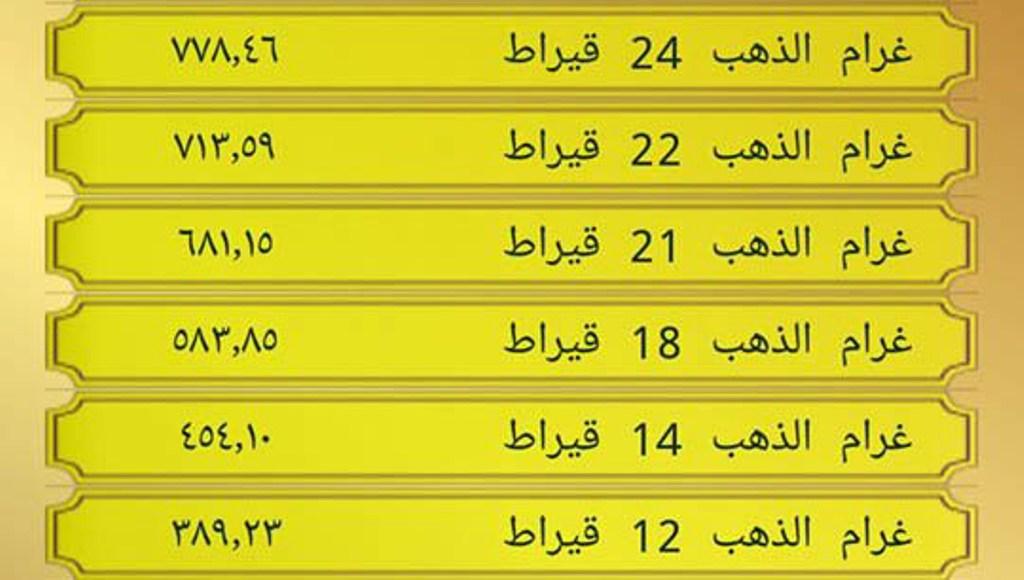 سعر الذهب اليوم في مصر للبيع والشراء شامل المصنعية الثلاثاء 15